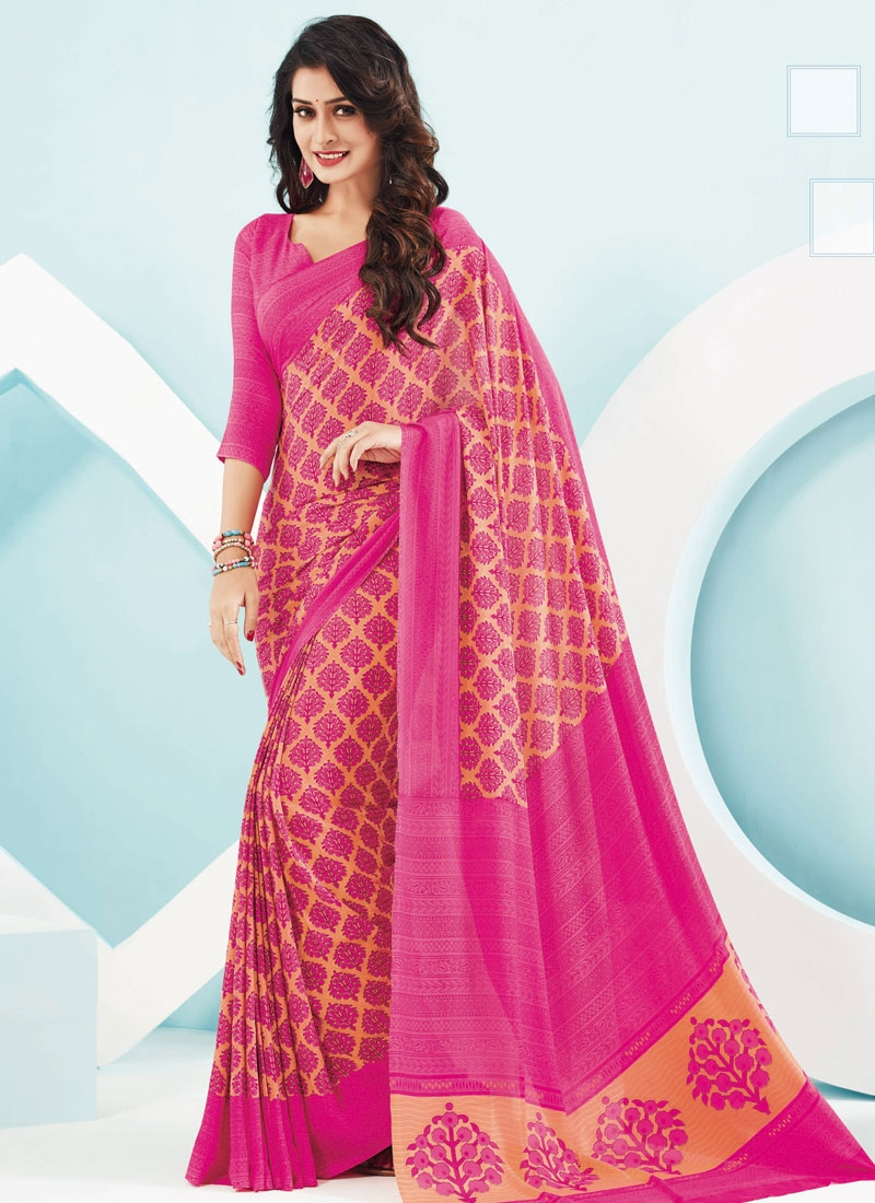 Exceptional Crepe Silk Printed Casual Saree