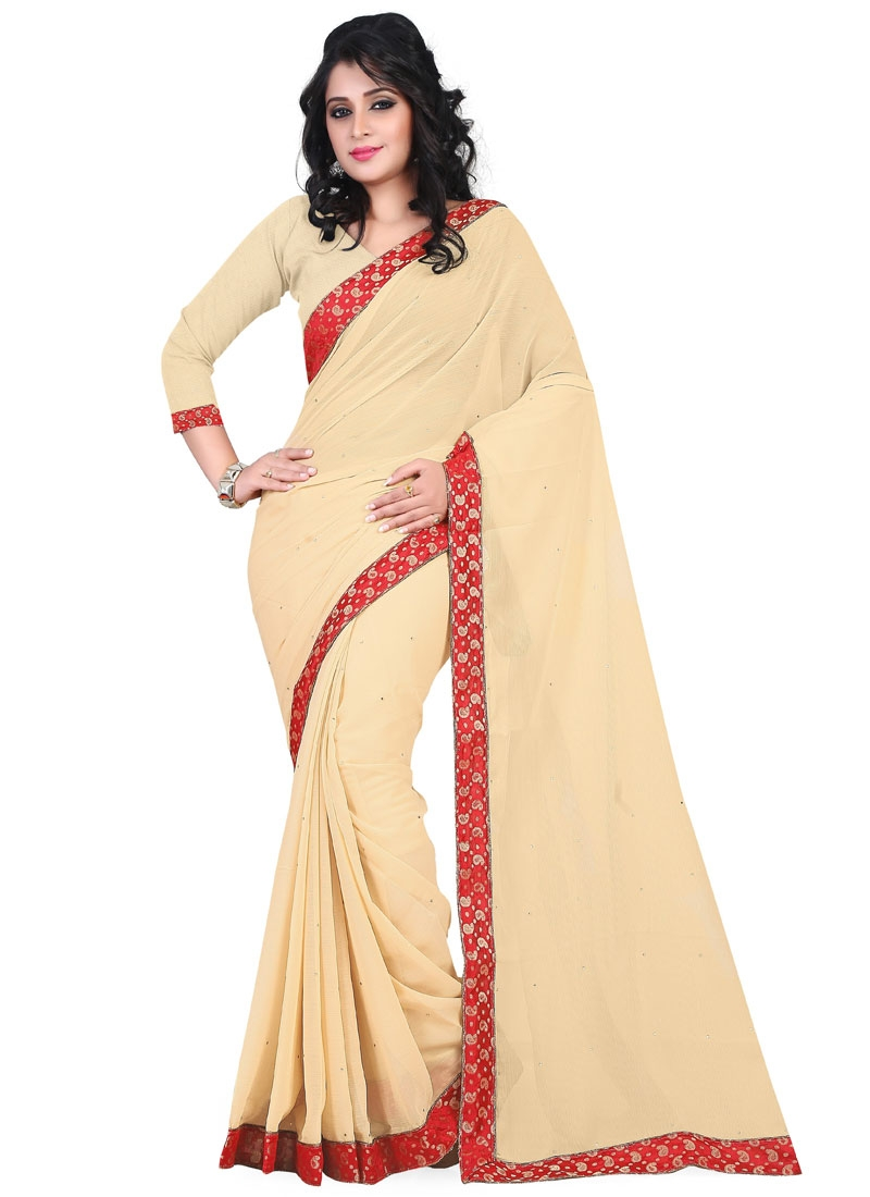Exceptional Faux Chiffon Casual Saree