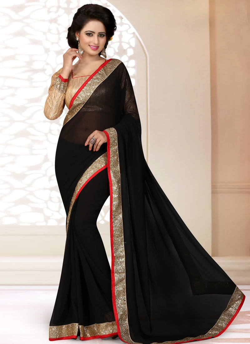 Exceptional Lace Work Casual Saree