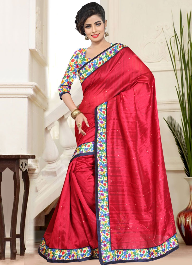 Exceptional Red Color Casual Saree