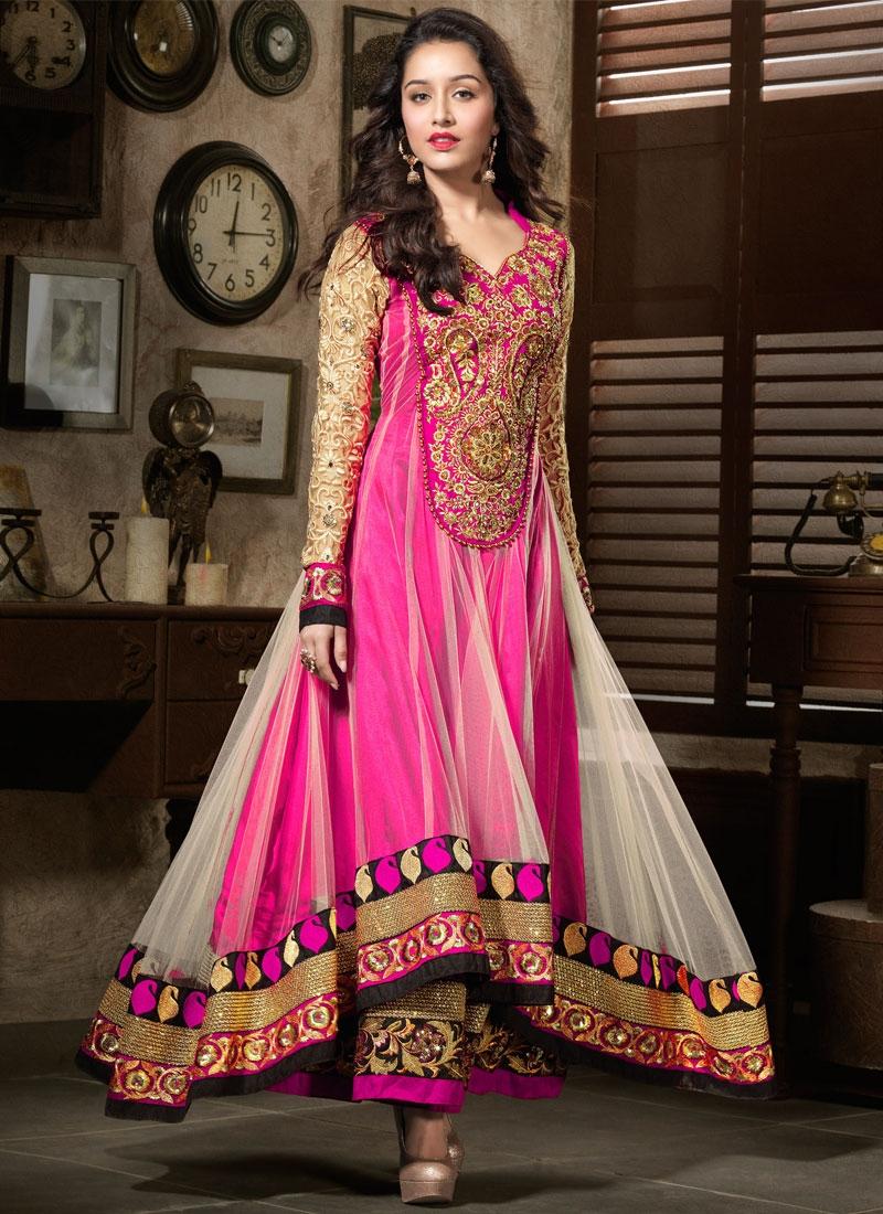 27464e76f056 Exceptional Shraddha Kapoor Net Designer Salwar Kameez