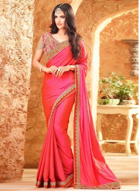 Exceptional Silk Georgette Contemporary Style Saree