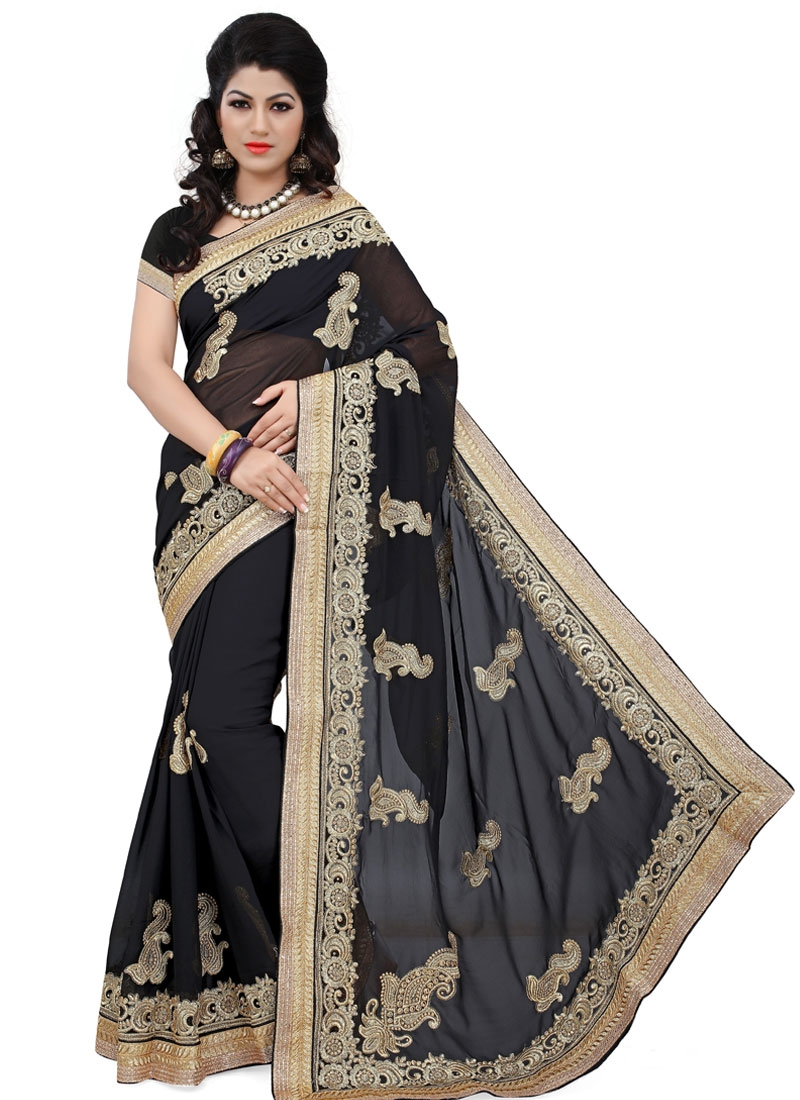 Exciting Booti And Stone Work Designer Saree