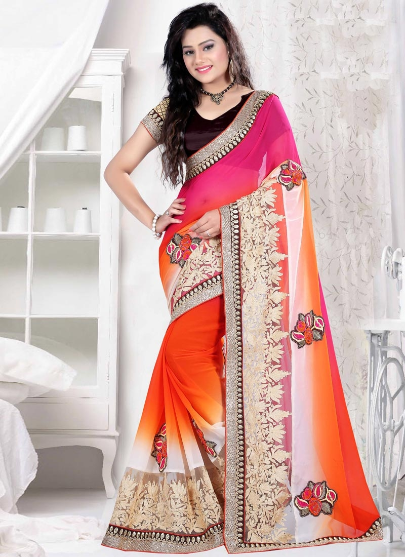 Exciting Booti And Stone Work Party Wear Saree