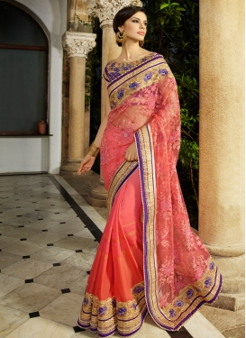 Exciting Patch Border Work Designer Saree