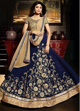 Exciting Shilpa Shetty Ankle Length Designer Anarkali Suit For Festival