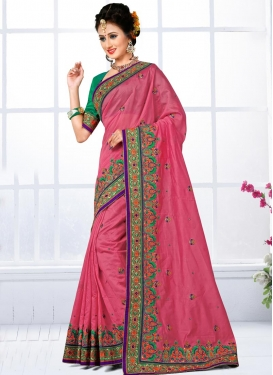 Exotic Embroidered Work  Traditional Saree For Bridal