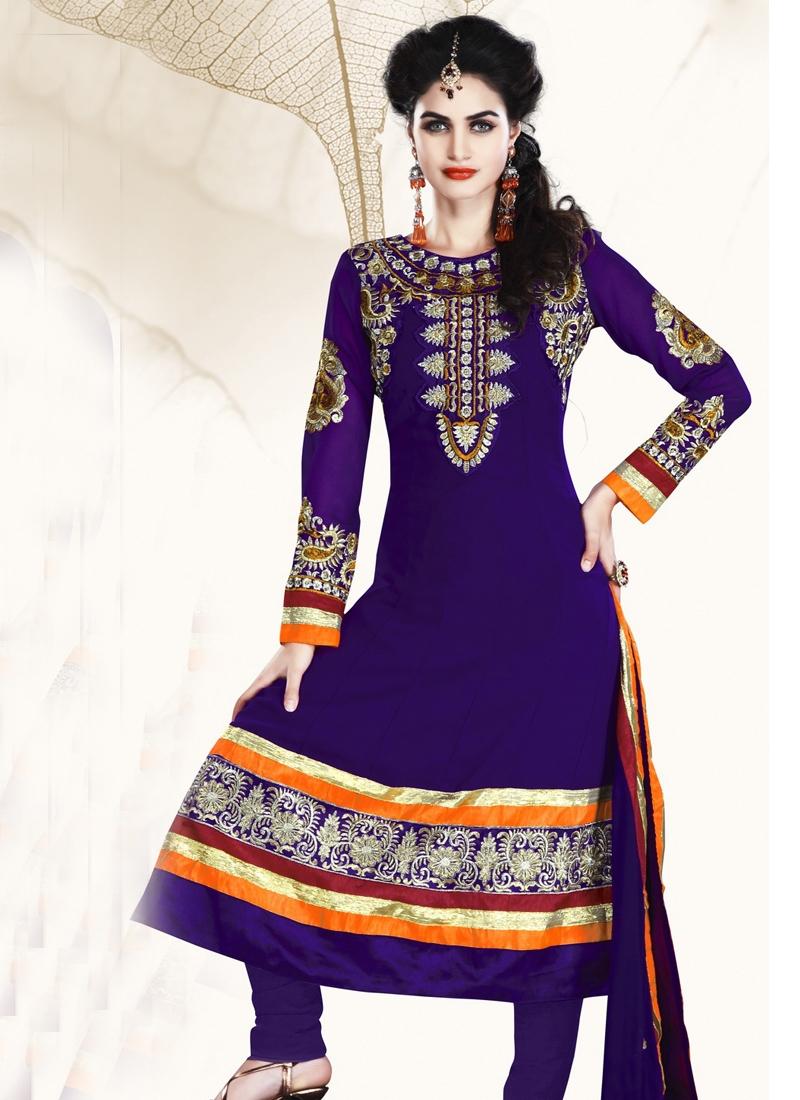 Exotic Faux Georgette Churidar Salwar Suit