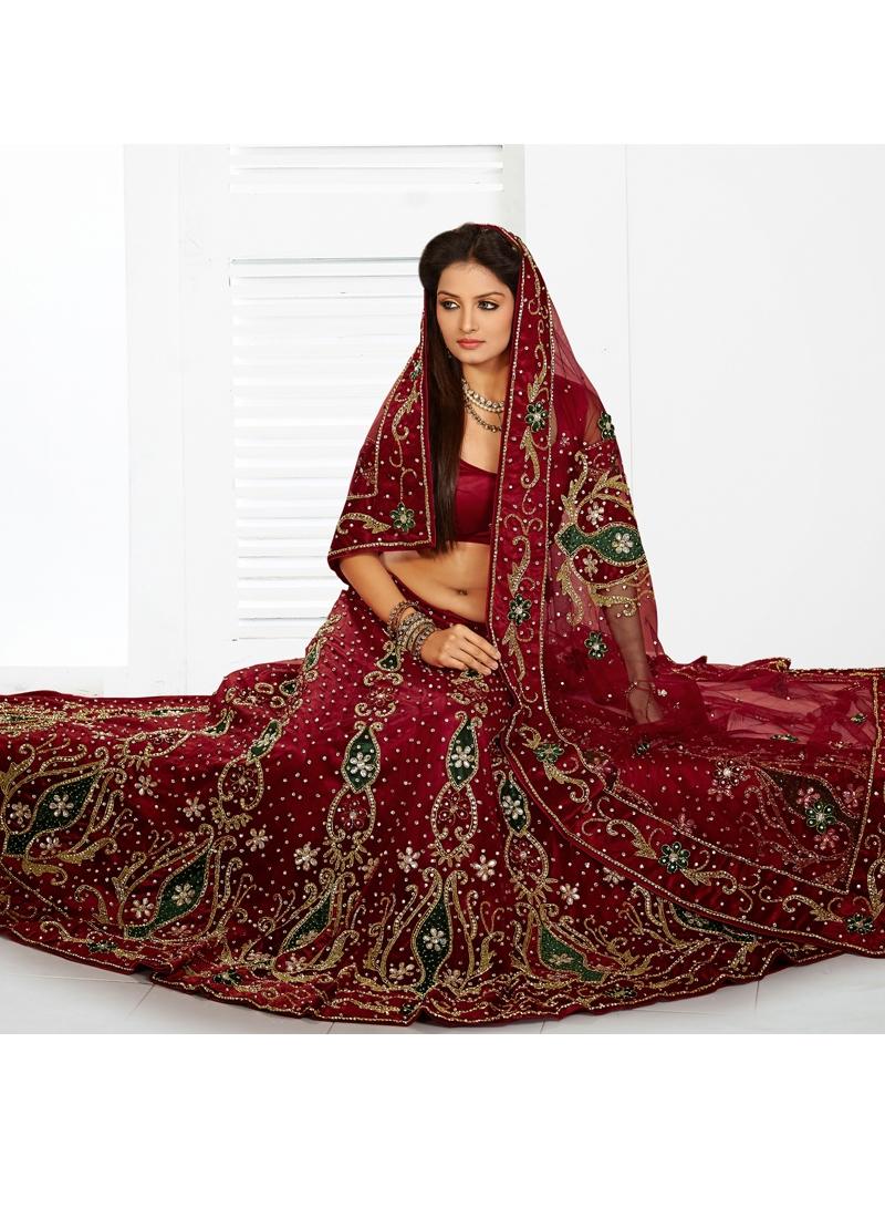 Exotic Gold Zardosi Work Bridal Lehenga Choli