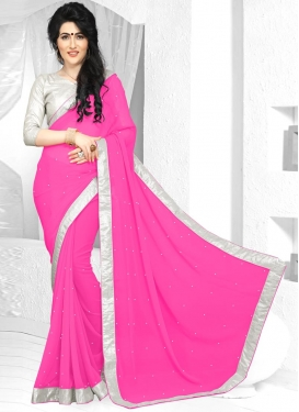 Exotic  Lace Work Trendy Saree
