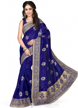 Exotic Patch Border And Stone Work Party Wear Saree