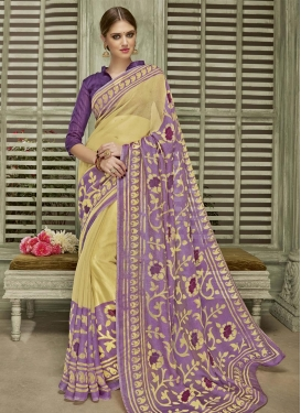 Exotic Print Work  Contemporary Style Saree