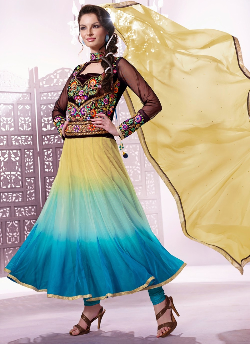 Exotic Resham Work Net Designer Salwar Kameez