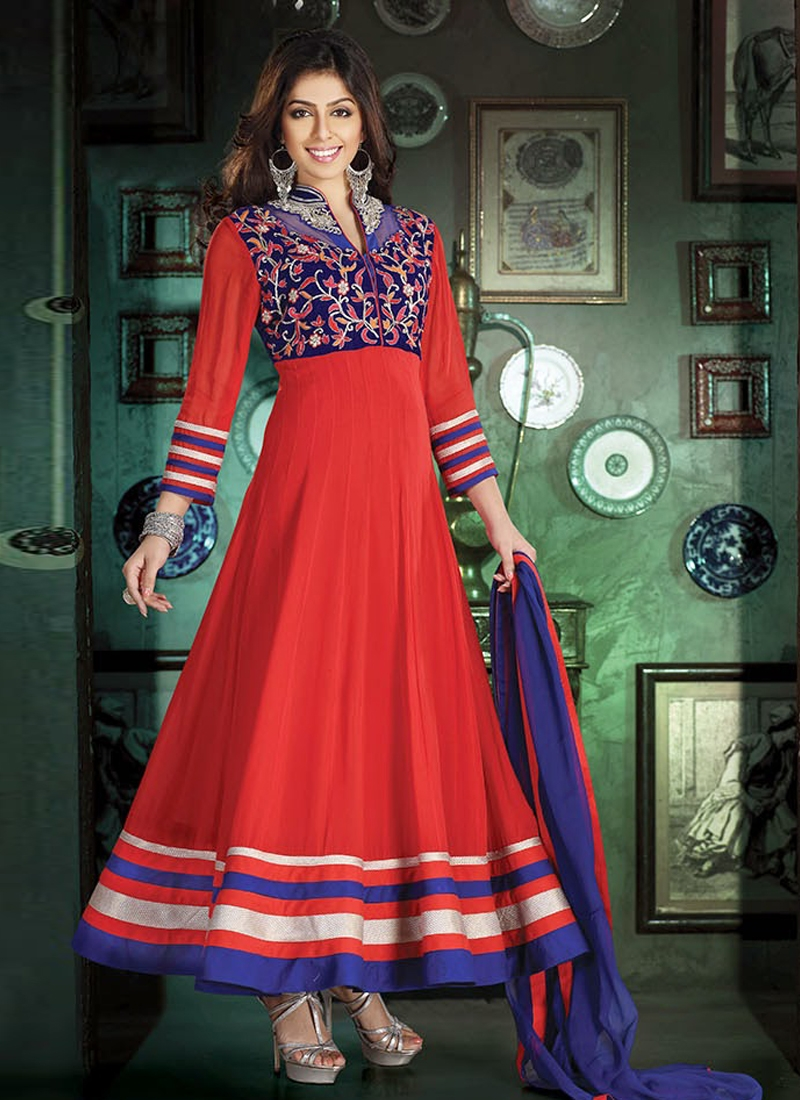 Exotic Silver Zardosi Work Readymade Salwar Suit