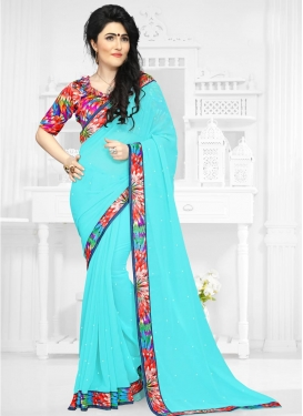 Exquisite  Digital Print Work Classic Saree
