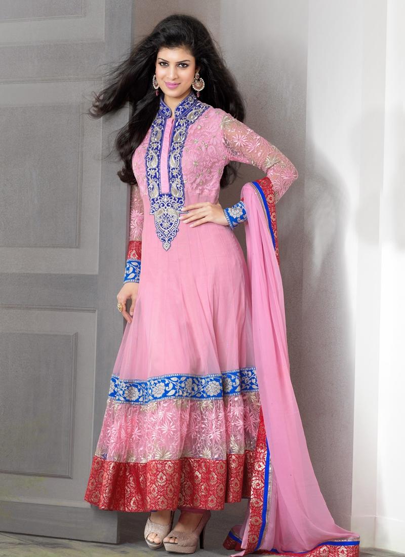 Exquisite Jaal And Resham Work Wedding Salwar Suit