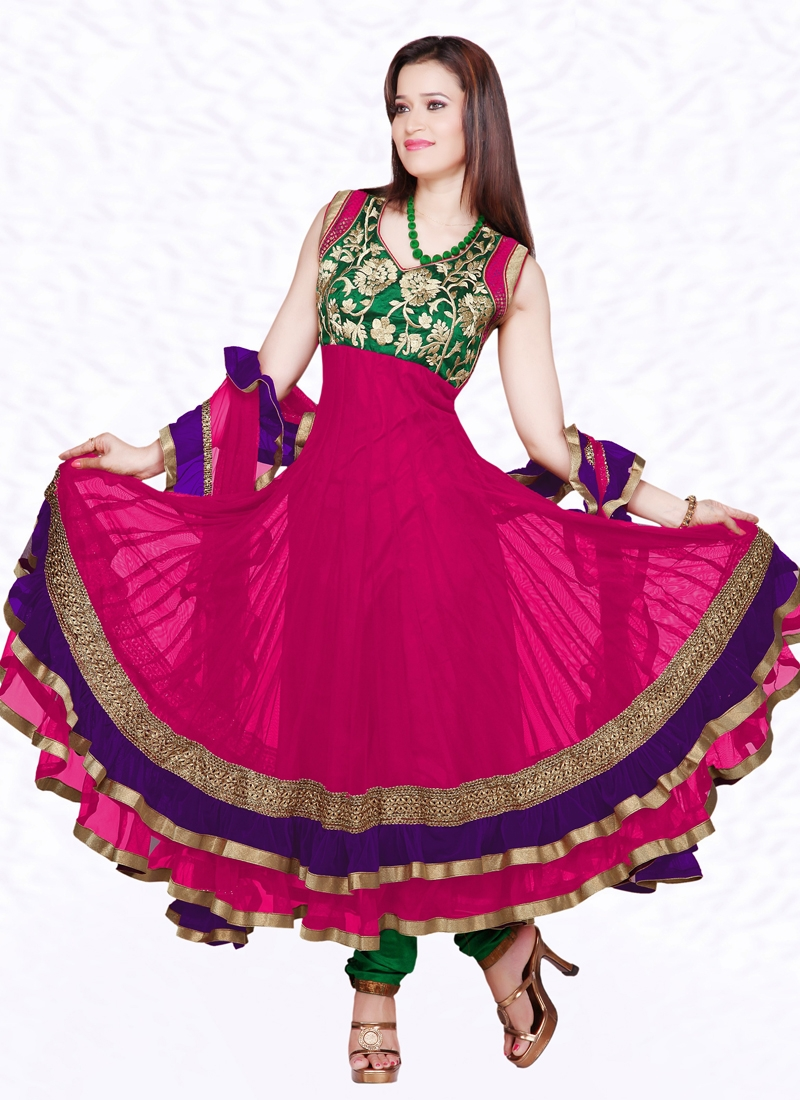 Exquisite Lace Work Readymade Salwar Suit