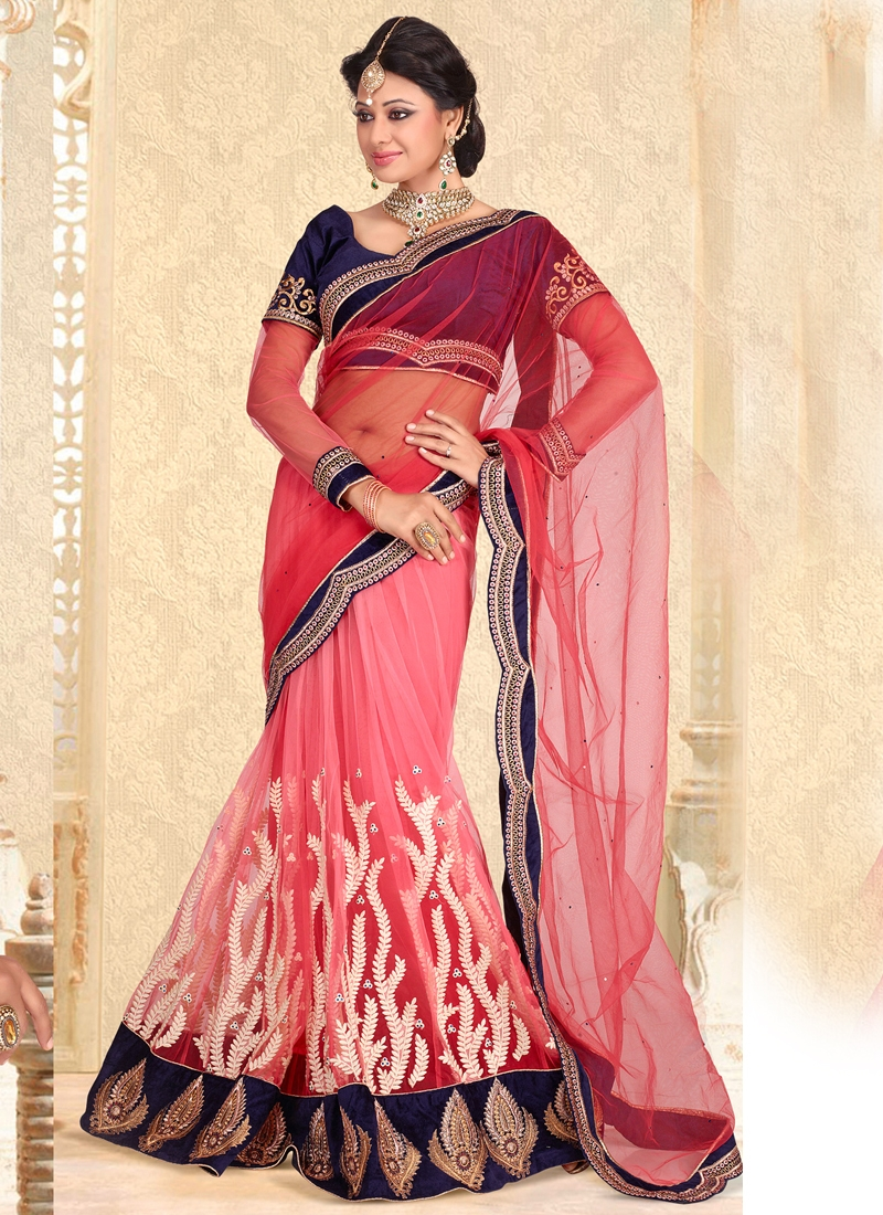 Exquisite Resham Enhanced Lehenga Saree