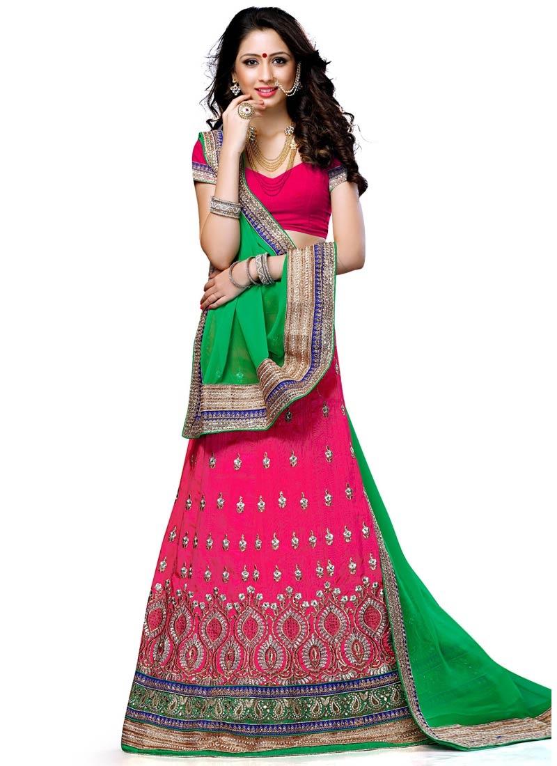 Exquisite Resham Work Designer Lehenga Choli