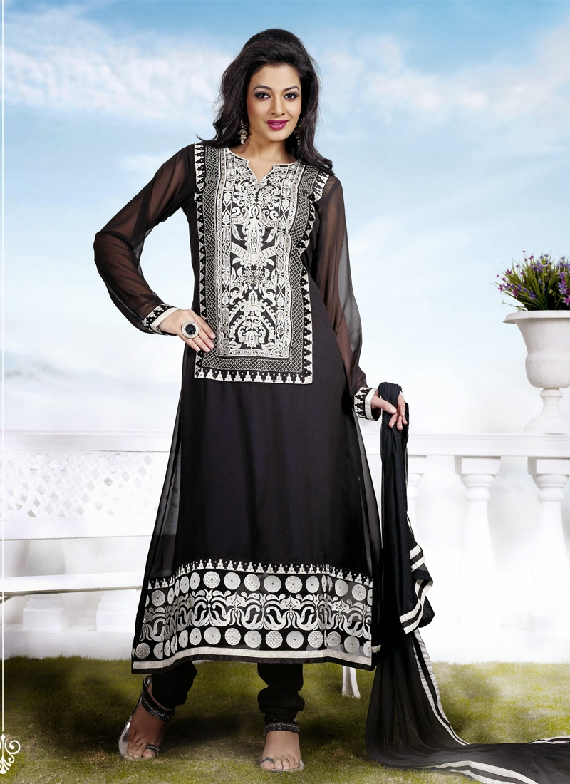 Exquisite Stone Work Georgette Party Wear Suit