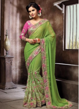 Exquisite Traditional Saree For Party