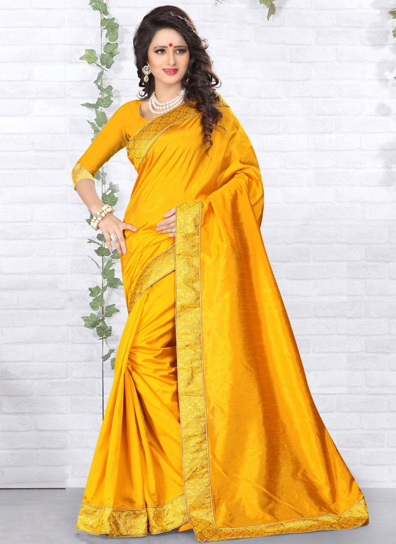 Extraordinary Art Silk Resham Work Casual Saree