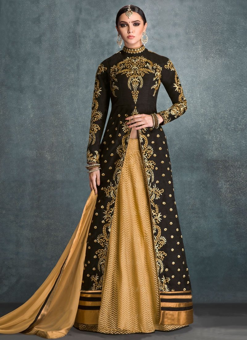 Extraordinary Black Color Designer Lehenga Choli