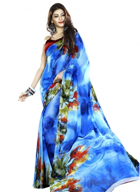 Extraordinary Digital Print Work  Trendy Classic Saree