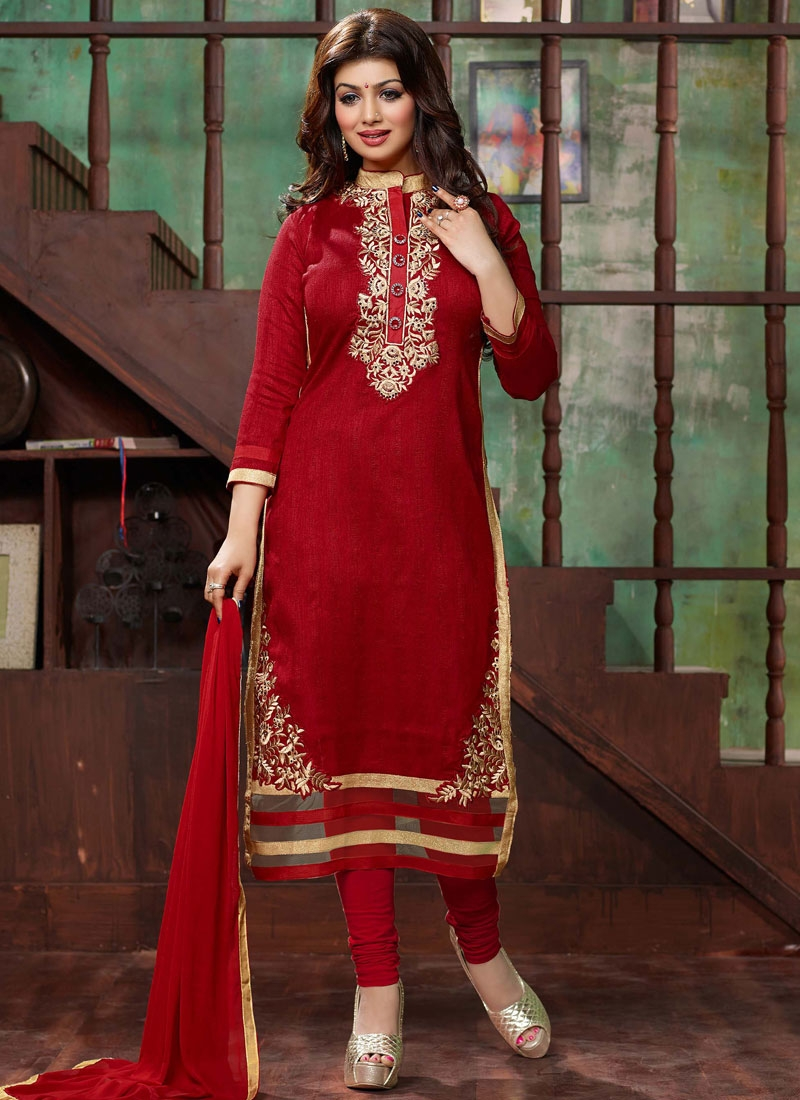 Extraordinary Embroidery Work Ayesha Takia Churidar Salwar Kameez