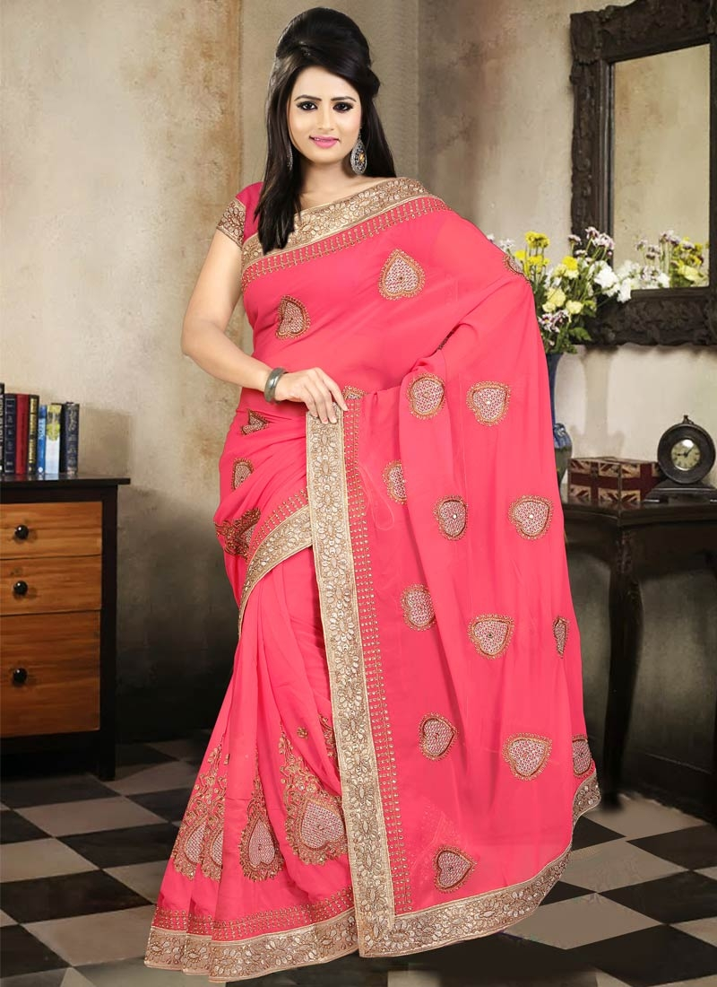 Extraordinary Lace And Booti Work Party Wear Saree