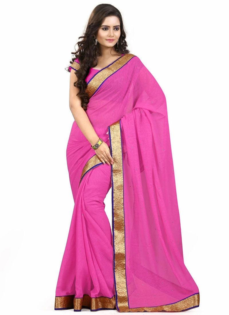 Extraordinary Lace And Stone Work Casual Saree