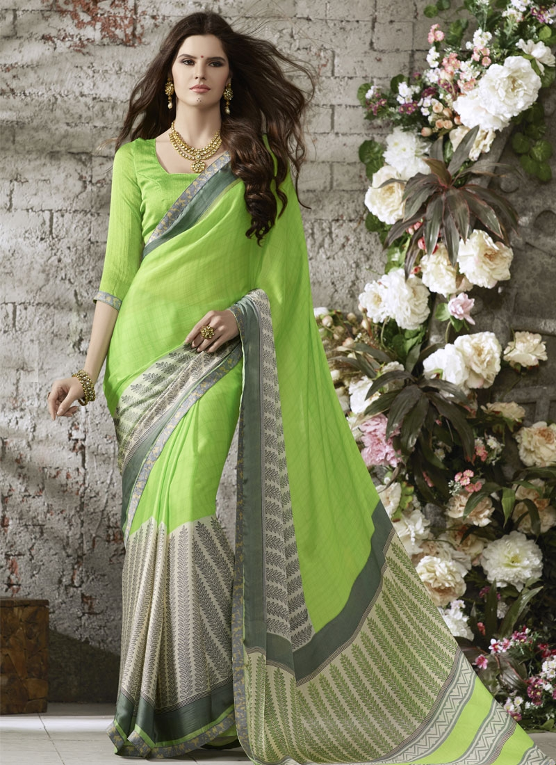 Extraordinary Mint Green Color Casual Saree