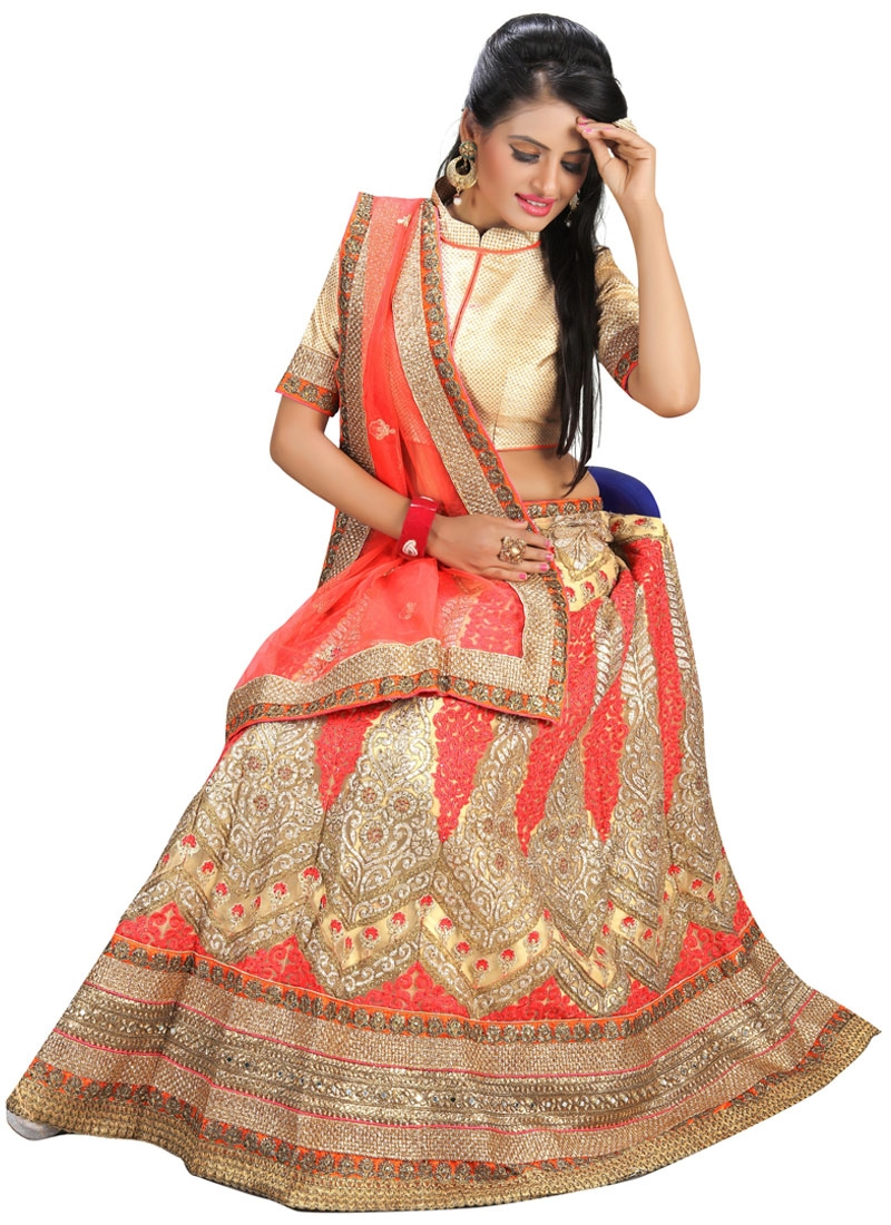 Extraordinary Patch Border Work Wedding Lehenga Choli