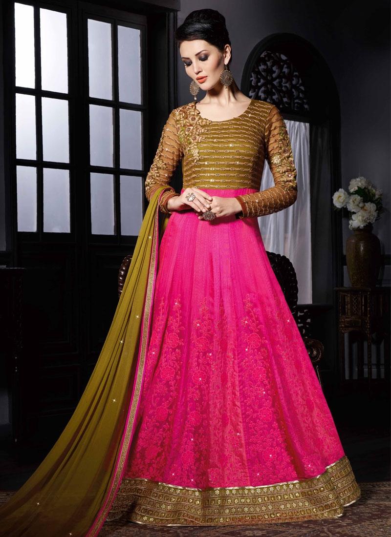 Extraordinary Sequins Work Silk Floor Length Wedding Salwar Suit