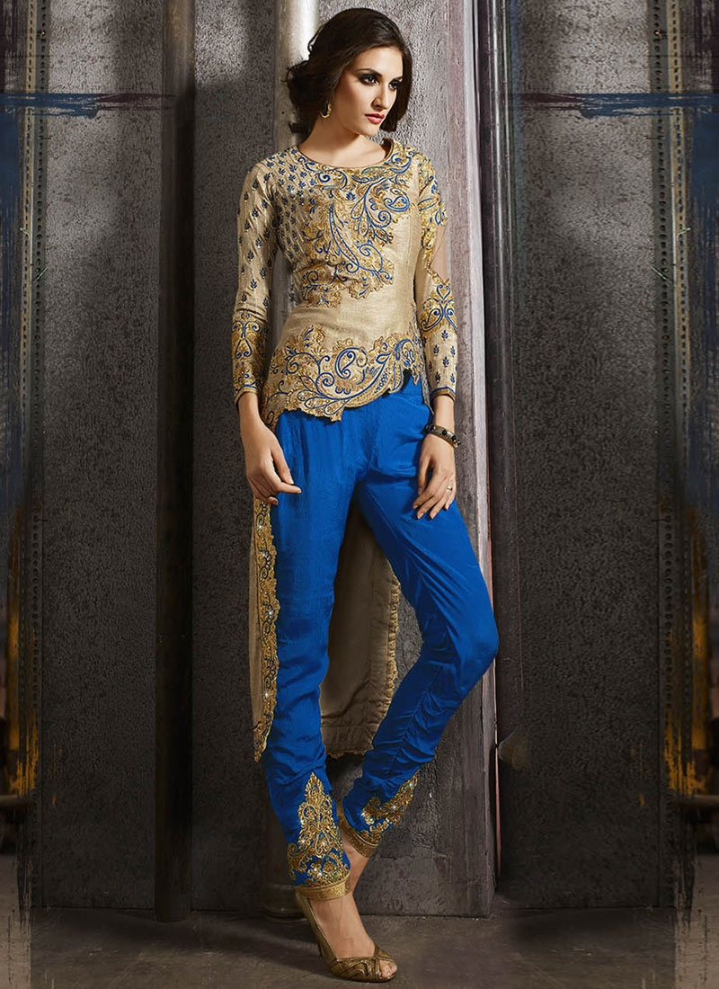 Exuberant Beads And Embroidery Work Designer Suit