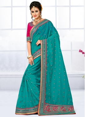 Exuberant Chanderi Silk Trendy Saree For Ceremonial