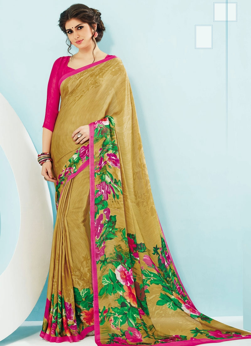 Exuberant Digital Print Work Casual Saree