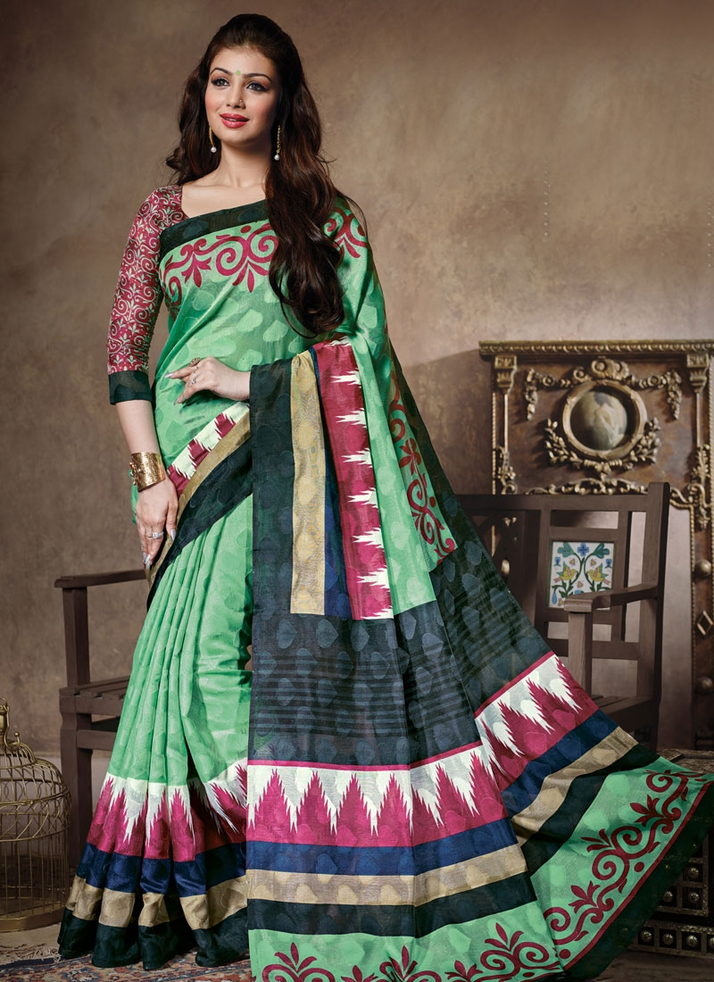 Exuberant Printed Ayesha Takia Casual Saree