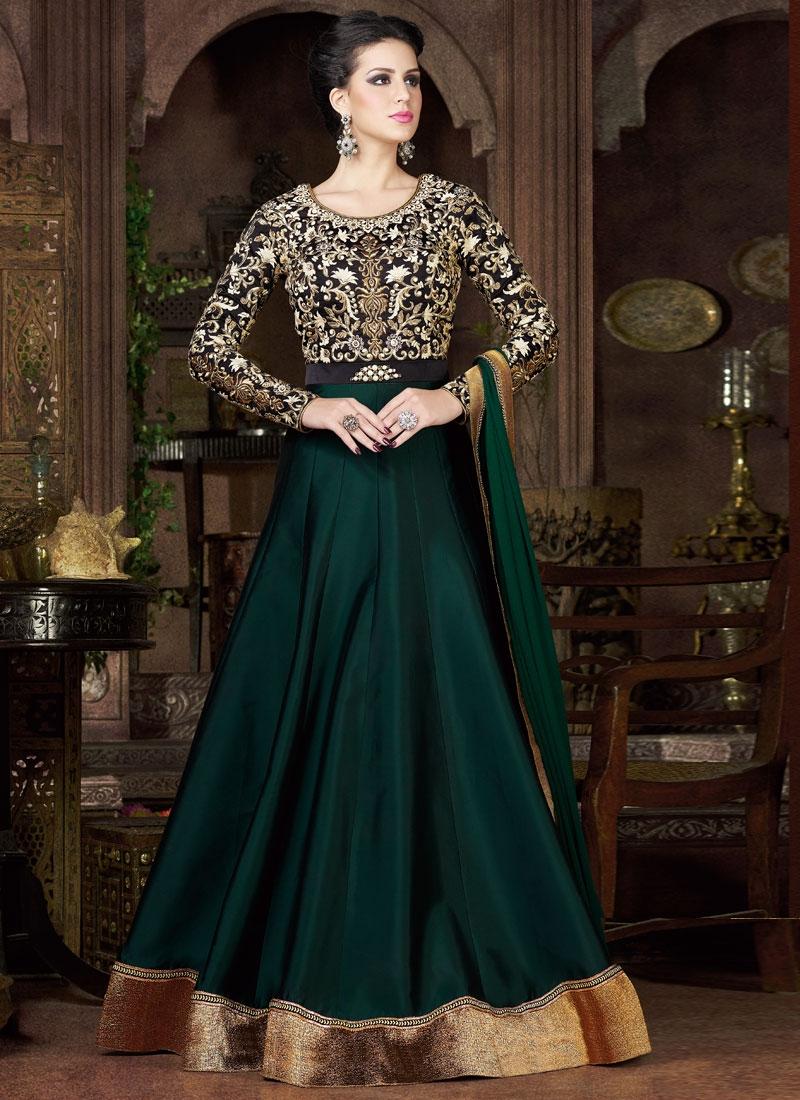 Exuberant Silk Floor Length Anarkali Salwar Kameez