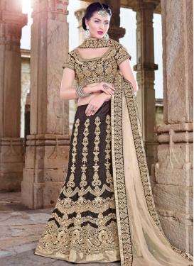 Exuberant Silk Resham Work Designer Lehenga Choli