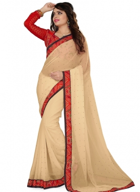 Eye-Catchy Bandhej Print Work Casual Saree