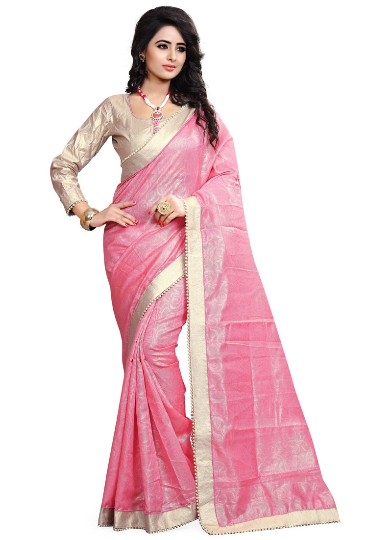 Eye-Catchy Beads Work Party Wear Saree