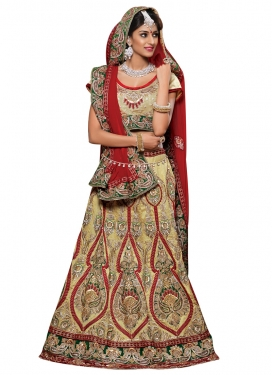 Eye-Catchy Booti And Zari Work Wedding Lehenga Choli