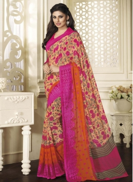 Eye-Catchy  Embroidered Work Trendy Classic Saree For Ceremonial