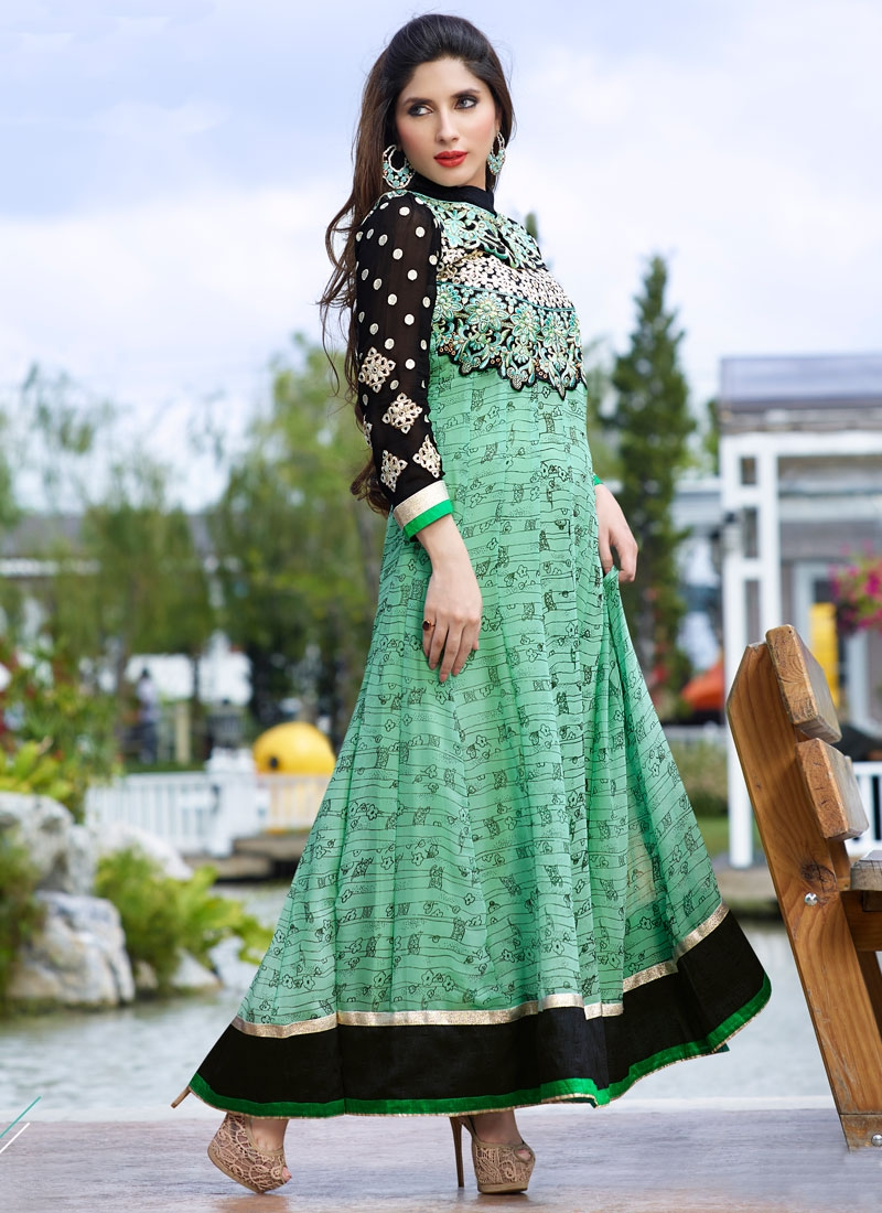 Eye-Catchy Faux Georgette Ankle Length Anarkali Salwar Kameez