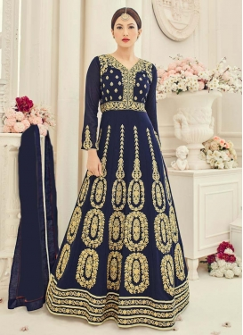 Fab Booti Work Gauhar Khan Long Length Designer Anarkali Suit