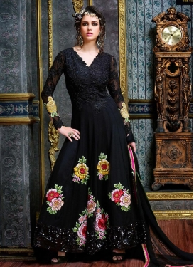 Fab Embroidered Work Long Length Designer Suit For Festival