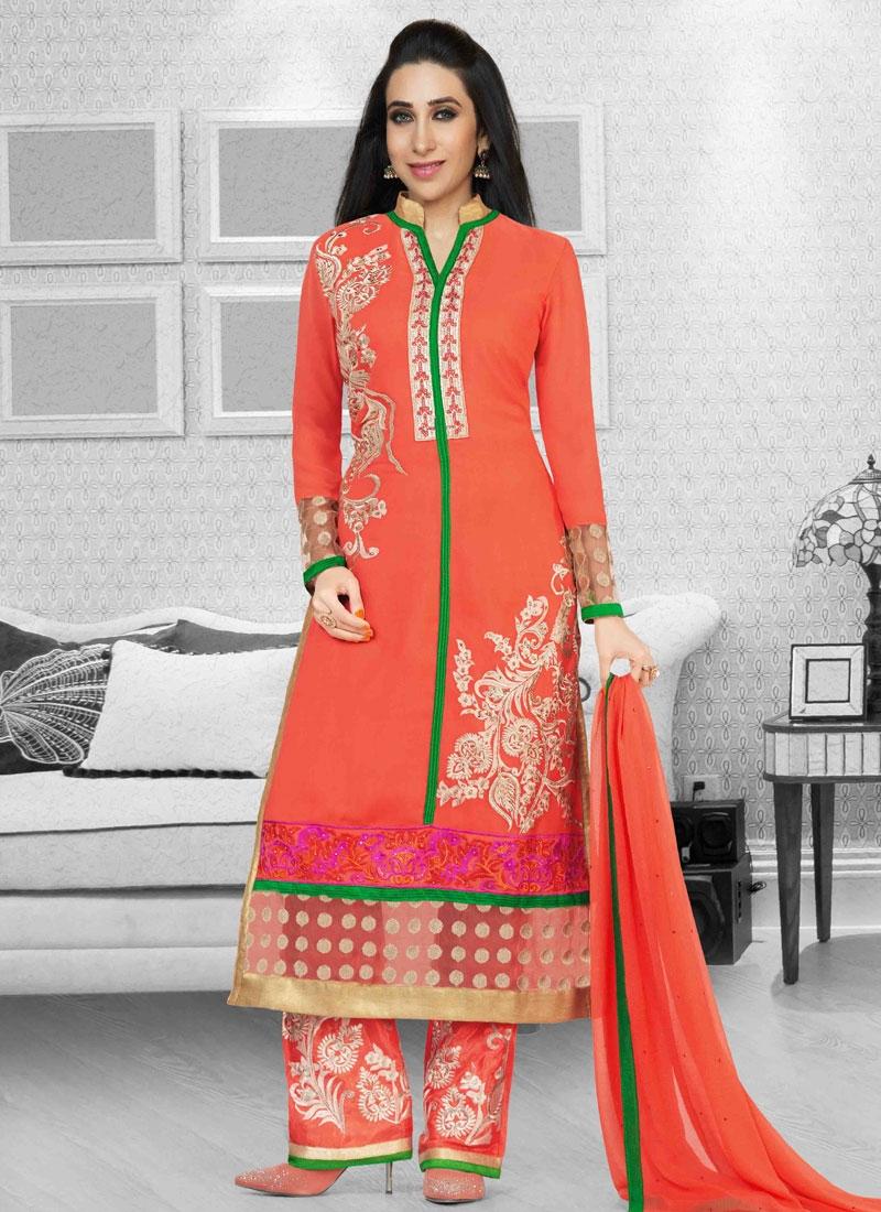 a5f9e2b048 Fab Karisma Kapoor Stone Work Pant Style Pakistani Suit