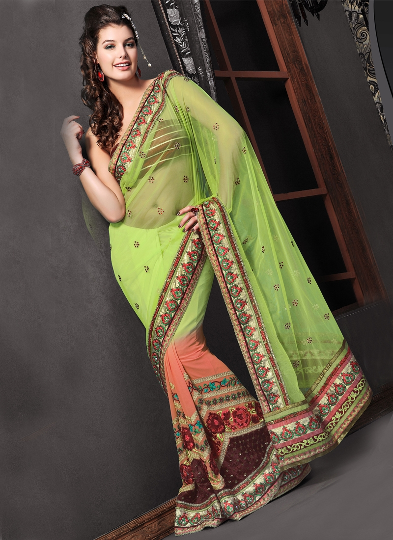 Fab Patch Enhanced Party Wear Saree