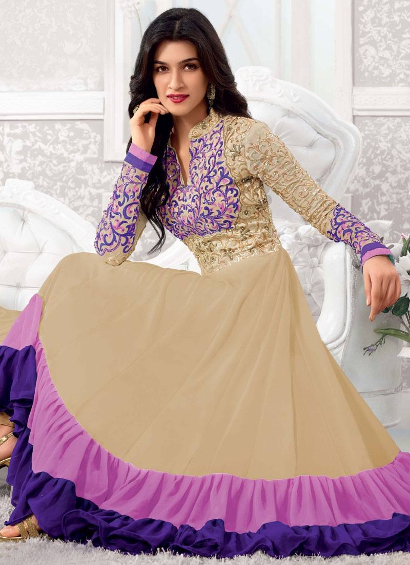 Fab Resham And Stones Work Georgette Anarkali Suit
